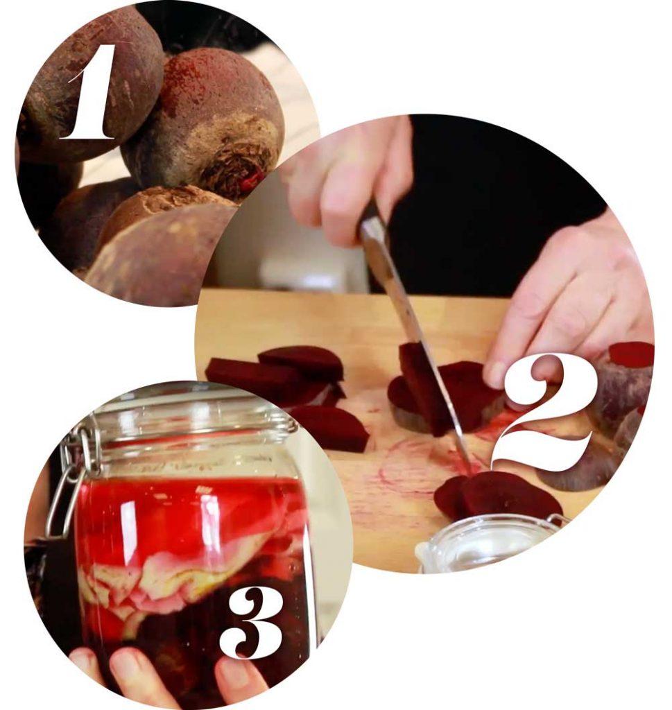 Bilder fra online kurset i fermentering - hvordan man lager rødbetkvass